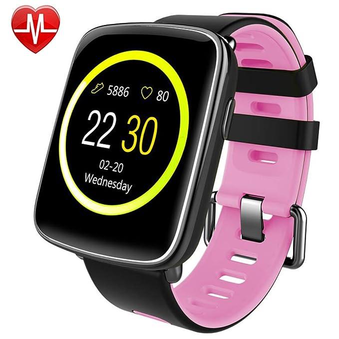 Montre Connectée pour iPhone et Android,Willful SW018 Smartwatch étanche IP68 Montre Sport (Podomètre,Cardiofréquencemètre,Sommeil) avec Réveil, ...