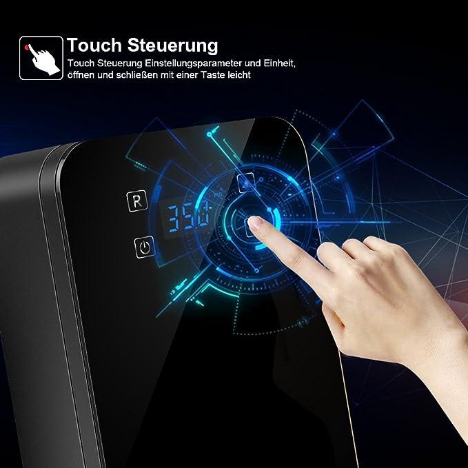 Digital Auto Compresor 12 V, Compresor De Aire, Max aufbla drück de 150PSI, Compresor De Aire Bomba con encendedor de cigarrillos LCD de la pantalla LED, ...