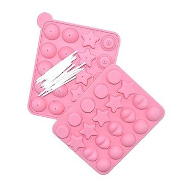 molde de molde de silicona 20, jabón de chocolate, jalea: Amazon ...