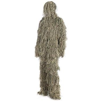 Ghillie Suit 3D Traje de Camuflaje Ghillie Suit Woodland Traje de camuflaje Traje de Camuflaje Para