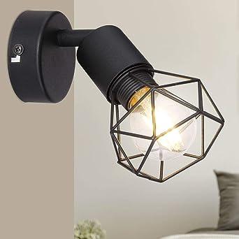Design Wand Spot Leuchte Wohn Zimmer Gitter Strahler Käfig Lampe weiß schwenkbar