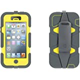 Griffin Grey/Yellow Heavy Duty Survivor All-Terrain Case for iPhone 5/5s, iPhone SE - Military-Duty Case w/ Belt Clip for iPhone 5s