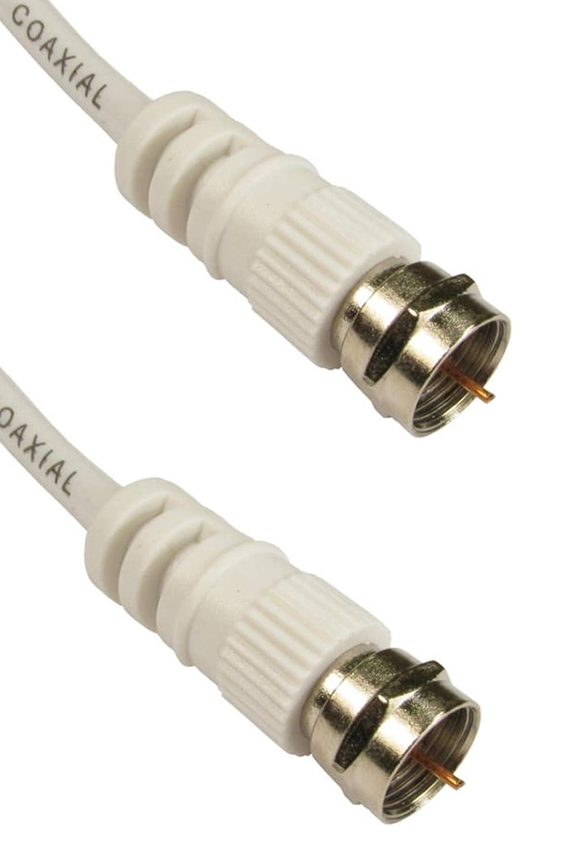 Cable Coaxial Satélite con Conectores F, 2 Metros: Amazon.es ...