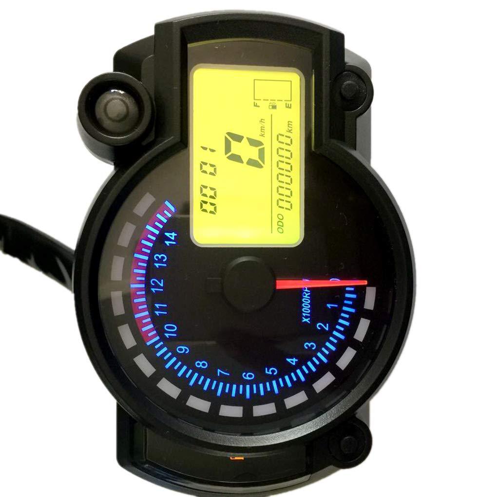 Ben-gi Motorrad-7-Farb-LCD-Bildschirm Tacho Motorrad-Hintergrundbeleuchtung Anzeige Odometer Scooter Tachometer Kraftstoffanzeige ABS-Case