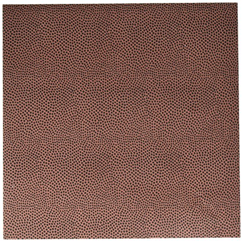 American Crafts Specialty Paper 12 Pack of 12 x 12 Inch Football Embossed, Piece