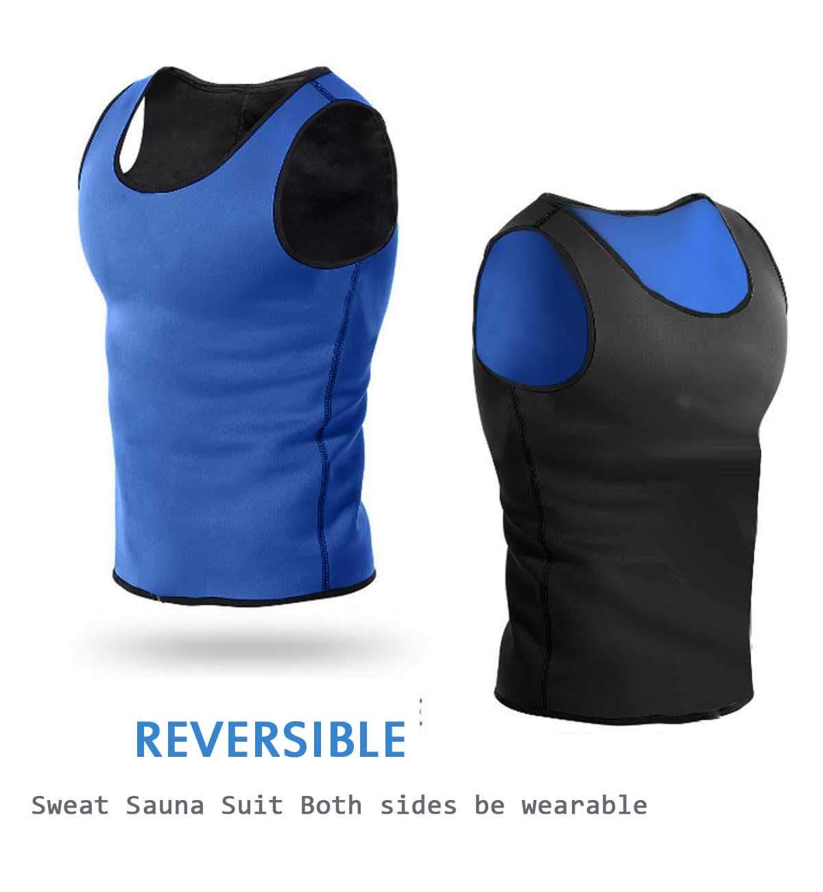 8db647738a Amazon.com   Optlove Men Sauna Waist Trainer Vest Body Slimming Shaper Hot  Sweat Tank Tops Workout Shirt Tummy Trimmer Neoprene Suit No Zip   Sports    ...
