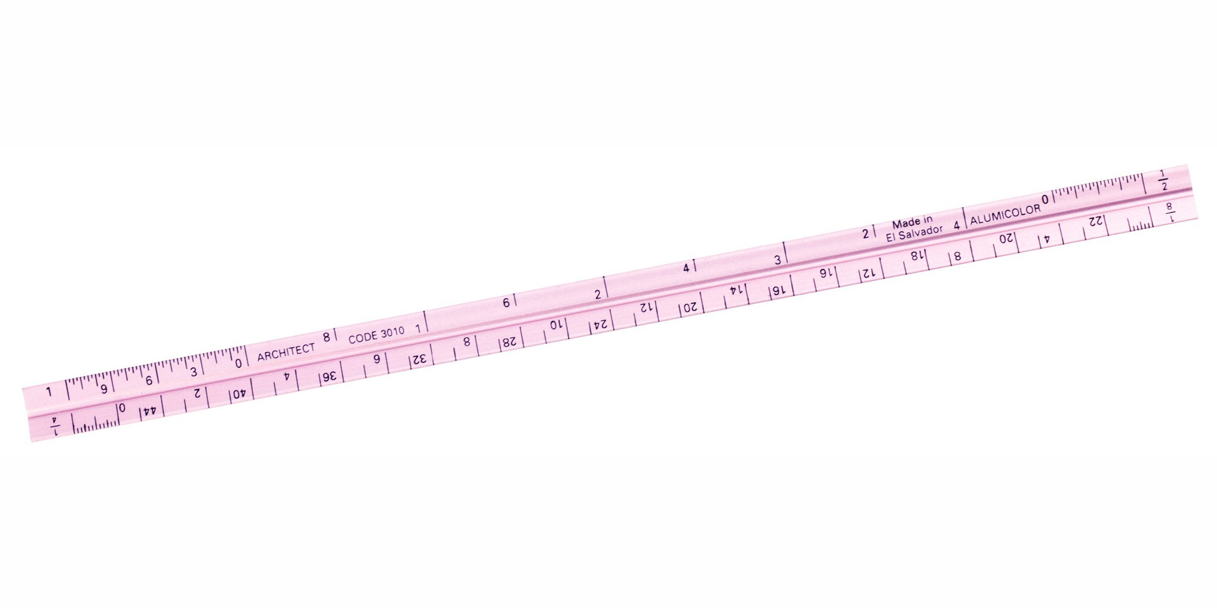Alumicolor Pocket-Size Architect Scale, Aluminum, 6 inches, Pink (3010-7) by Alumicolor
