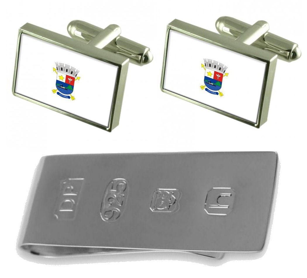 Vitoria City Espirito Santo State Flag Cufflinks & James Bond Money Clip