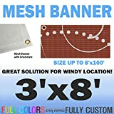 3'x8' Custom Full Color Mesh Banners Vinyl Signs