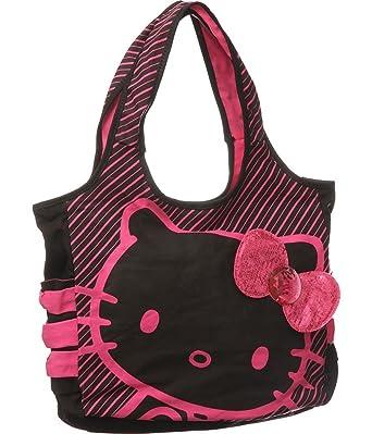 e42a250fc Amazon.com: Hello Kitty Black Tote: Pink Sequin: Shoes