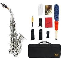 ammoon LADE Saxofón Bb Bend Althorn Soprano Sax