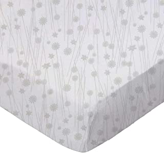 product image for SheetWorld Fitted Pack N Play (Graco Square Playard) Sheet - Grey Floral Stems - Made In USA