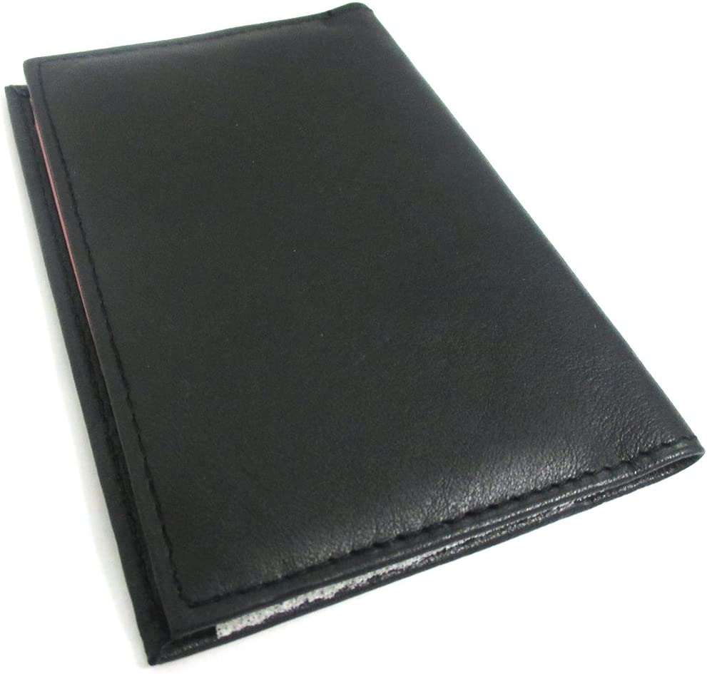Venezuela Genuine Leather Passport Cover Holder Black Wallet Case Card Protector