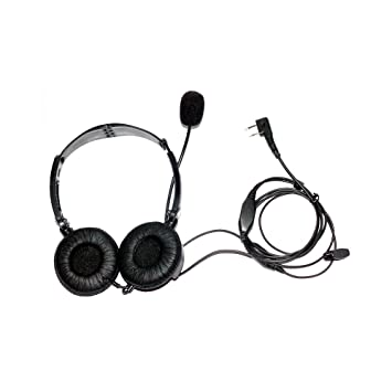 Auricular binaural con un micrófono dinámico con botón PTT / VOX ...
