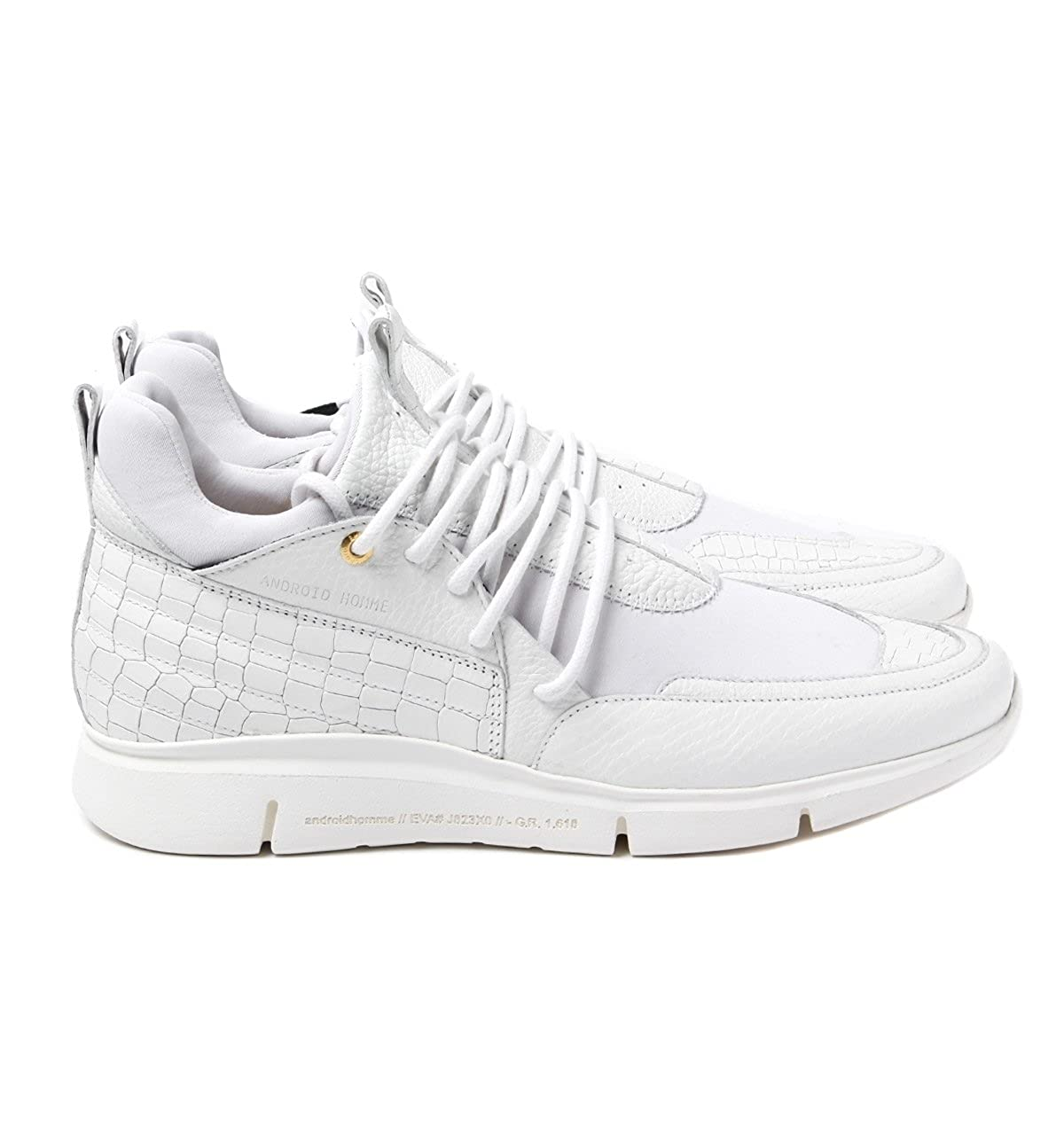 a6216e94ca5f9 Android Homme Runyon Runner 117 White Leather Trainers-UK 11  Amazon.co.uk   Shoes   Bags
