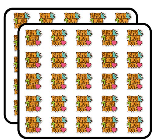 Faith Hope Love Sticker for Scrapbooking, Calendars, Arts, Kids DIY Crafts, Album, Bullet Journals 50 -