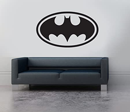 Batman Logo Symbol Emblem Vinyl Wall Art Sticker Decal Mural Transfer  Childrenu0027s Bedroom Stencil (Black