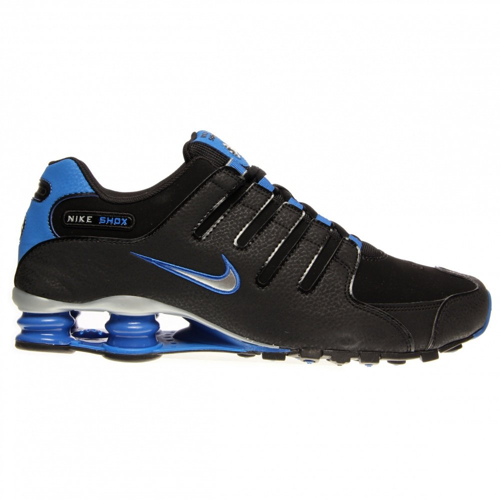 67e6f43af174 Galleon - Nike Shox NZ Mens Running Shoes 378341-056 Black 10.5 M US