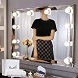 Chende Vanity Lights for Mirror, Hollywood Style Makeup Light Stick on, Large 10 Daylight Dimmable LED Bulbs with AC…