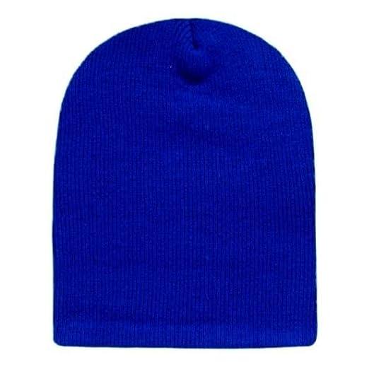 Amazon.com  Solid Royal Blue Knit Beanie Stocking Cap Winter Hat ... 9ea8892822e