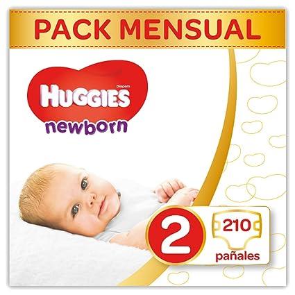 Huggies Newborn - Pañales Recién Nacido Talla 2 (3-6 kg) - 210