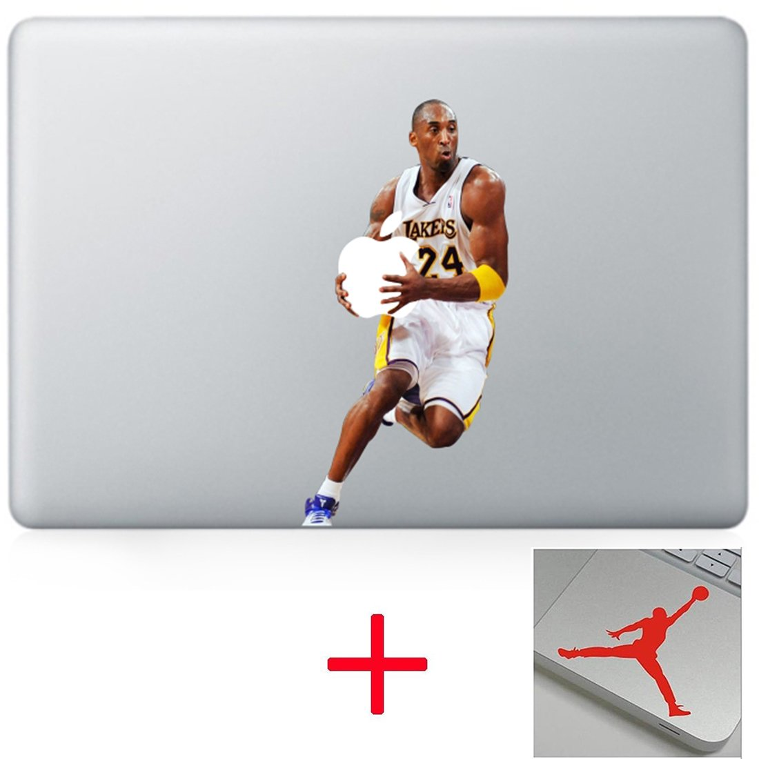 Black mamba Aggressive Basketball Unique Sticker Decals Vinyl Skin Cover for Macbook Computer Laptops 13 15 17 inch Computer