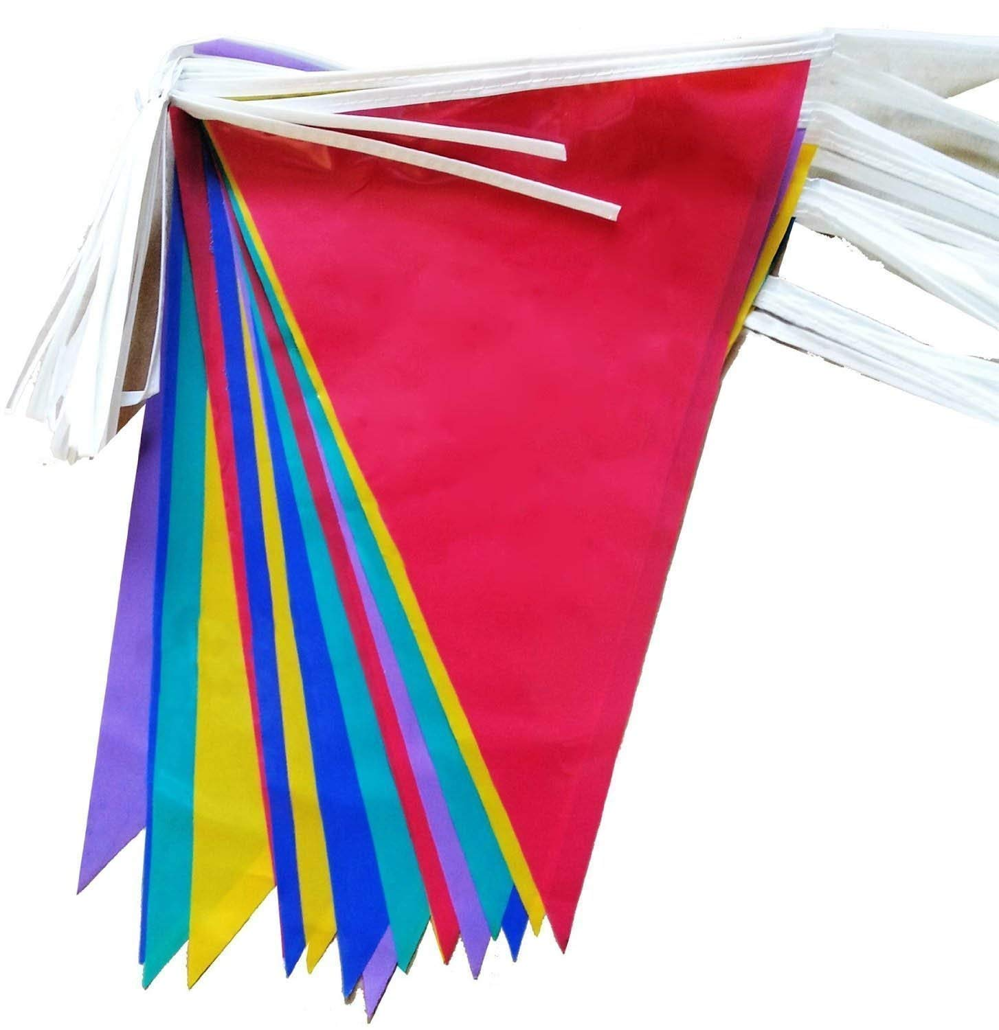 10-Metre PVC Double-Sided Bunting - 20 Flags Besto