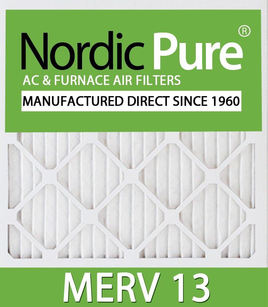 Nordic Pure 11/_1//4x19/_1//4x1ExactCustomM13-12 MERV 13 AC Furnace Filters 12 Piece
