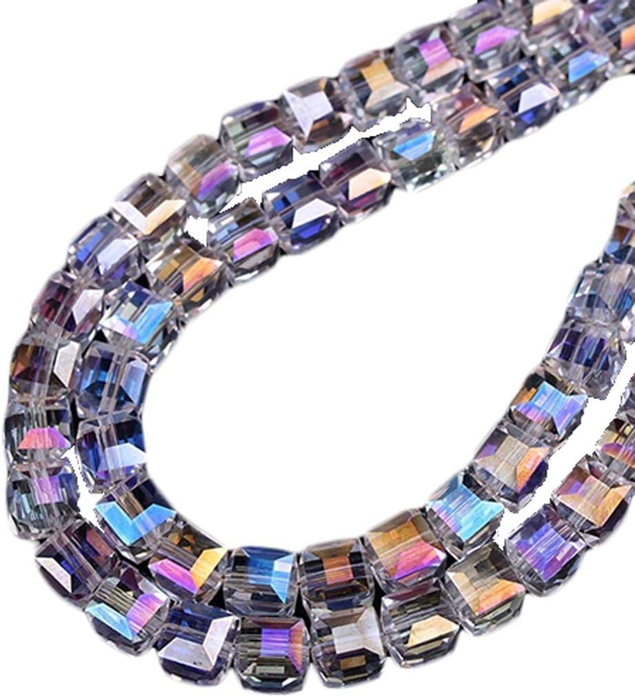 Lot de 20 perles à Facettes Rondelles 8 x 6 mm en Cristal Noir