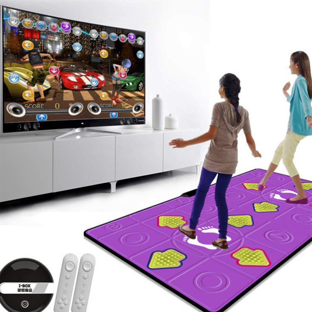 Dance mat Double Hd Game Console Child Adult Weight Loss Machine Pu Material 3D Picture, Silicone Massage Non-Slip, Family Game by Dance mat (Image #4)
