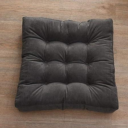 FJXQCY Color sólido colchón Mullido Asiento Grueso Cuadrado ...