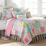 Levtex Home Juliet Reversible Full/Queen Quilt Set in Pink/Green