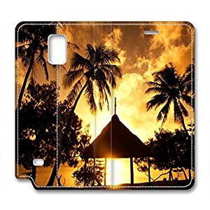 Sunset Personalized Design Leather Samsung Note 4 Case Dusk