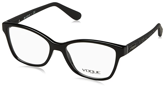 c3fe8f0002 Vogue VO2998 Eyeglass Frames W44-52 - Black at Amazon Men s Clothing ...