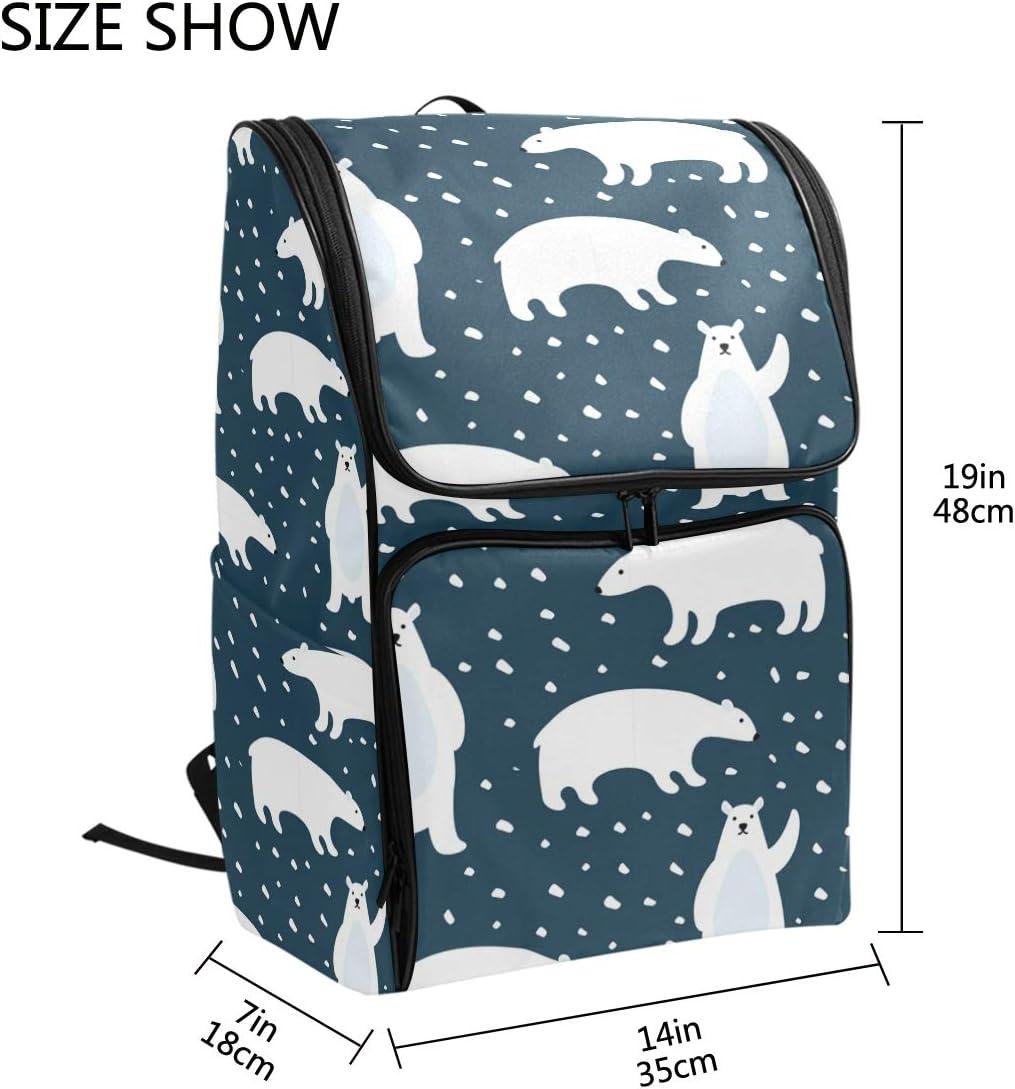 Casual Large College School Daypack FANTAZIO Cute Polar Bears Laptop Outdoor Backpack Travel Hiking Camping Rucksack Pack