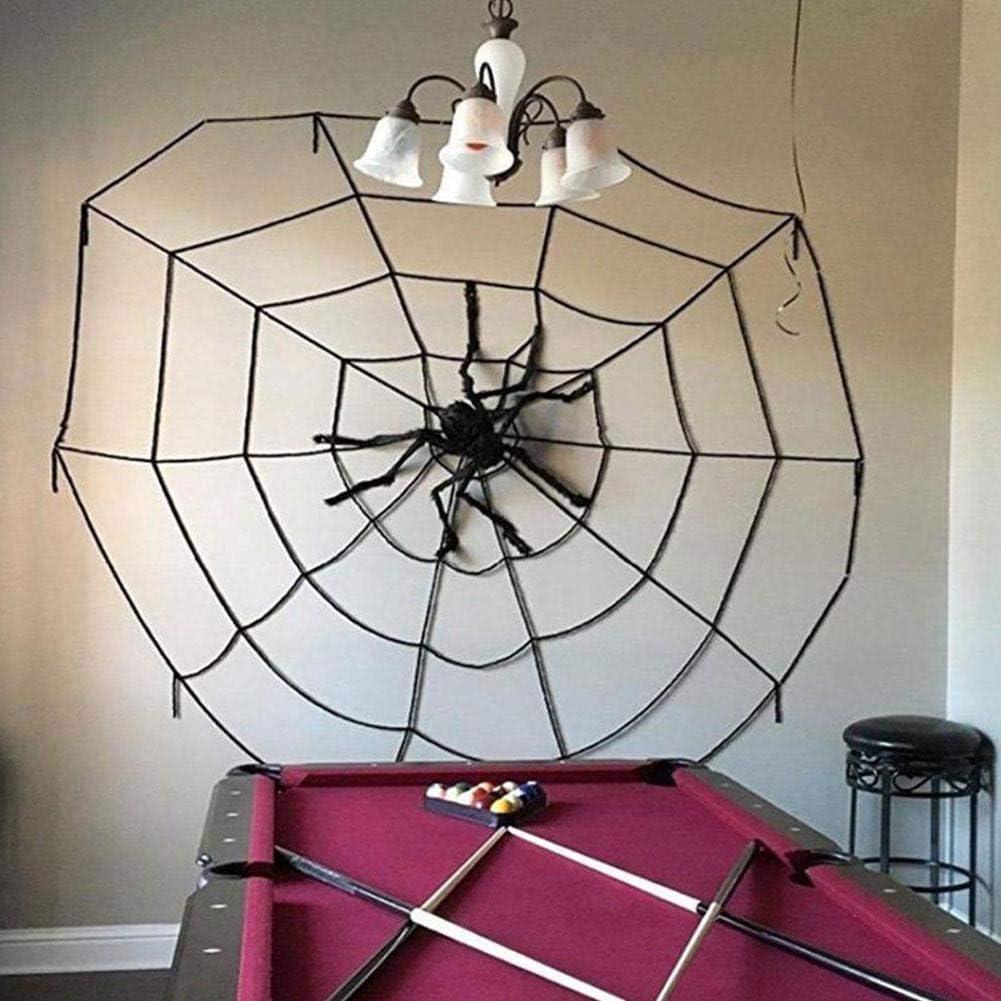 1Pc g/éant noir araign/ée Halloween d/écoration accessoires en peluche Simulation araign/ée effrayant jouet d/élicat pour int/érieur ext/érieur et cour