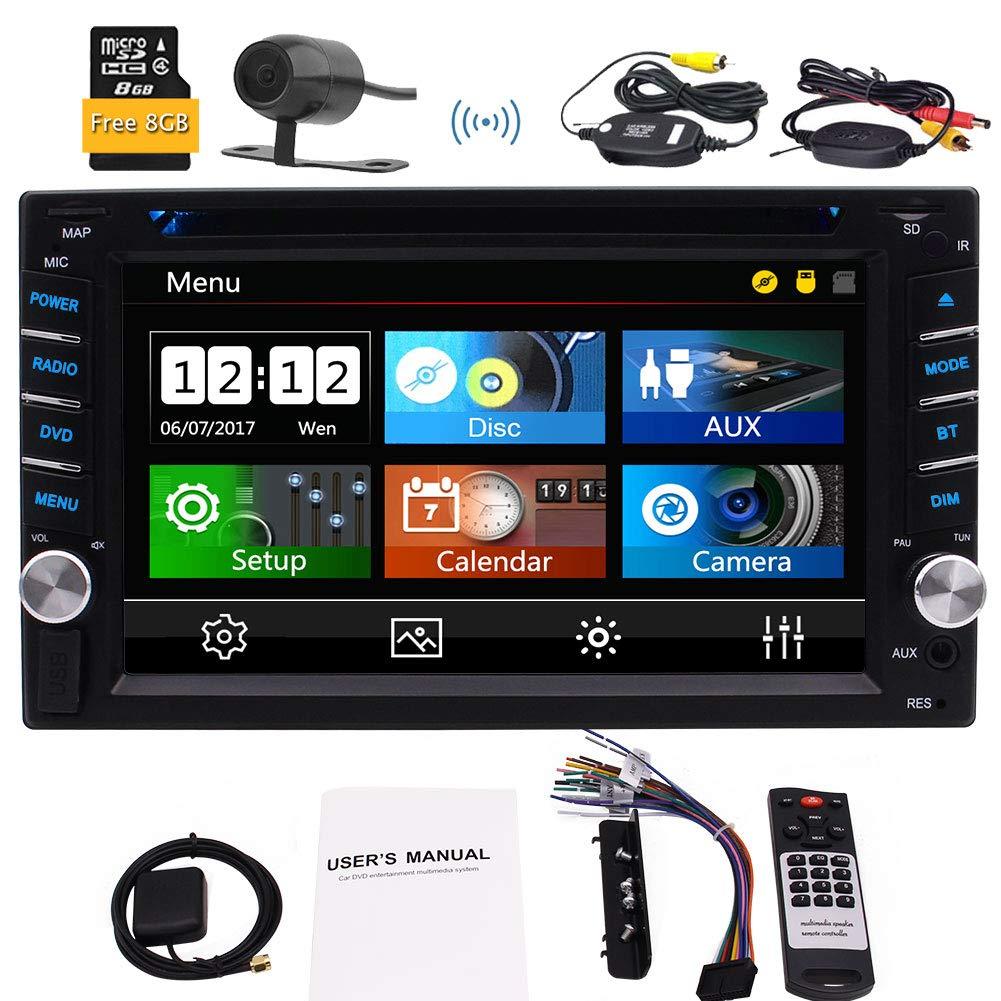 EINCAR 3 Arten von Win 8 UI Doppel-DIN-Autoradio in Dash GPS NAV Autoradio Bluetooth Touchscreen FM//AM//RDS Radio Head f/ür die universellen Fahrzeuge 1080P Video Musik mit Wireless-R/ückse