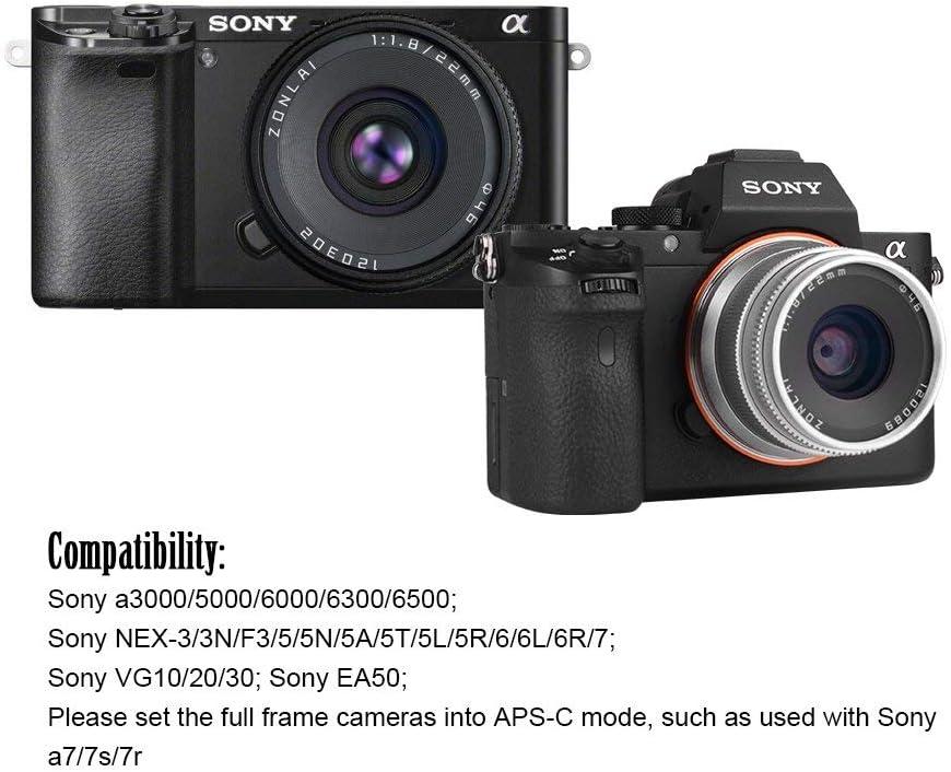 Objetivo Zonlai 22mm F1.8 para Sony E montura APS-C cámara como ...