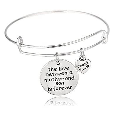 Mother Son Bangle Adjustable Bracelet Family Gifts For Mom And Women Boy Birthday Gift