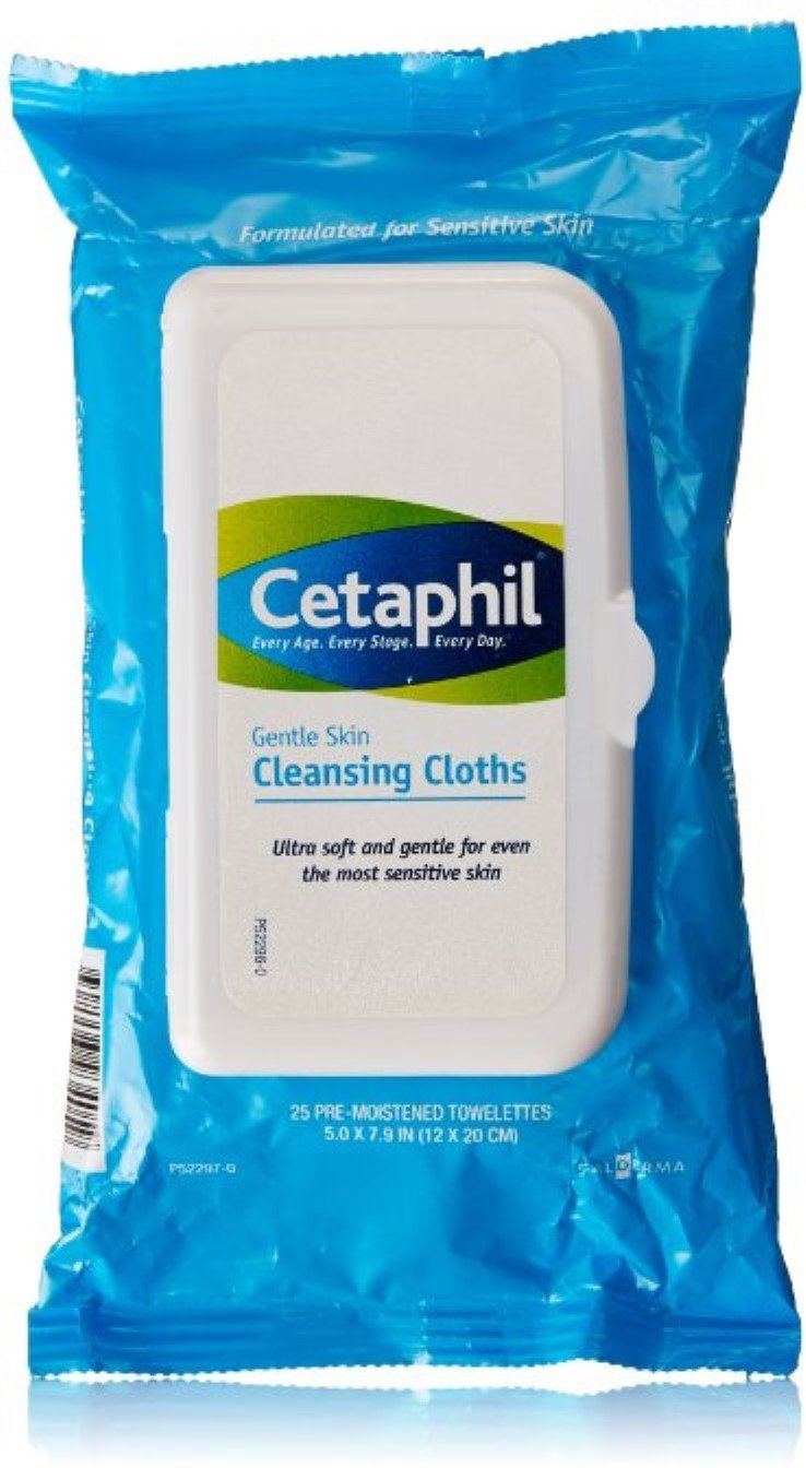 Cetaphil Cleans Cloths Size 25ct (pack of 5)