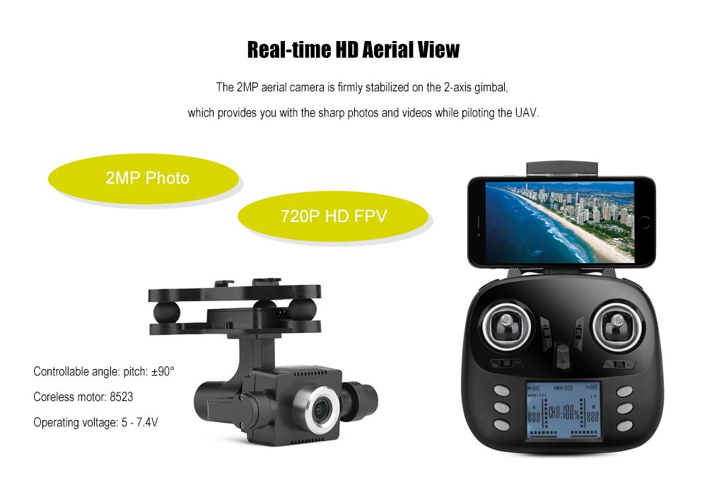 6 Axis Quad Copter With Wifi 720 Camera And Always Level Camera Mount by DENTT (Image #2)