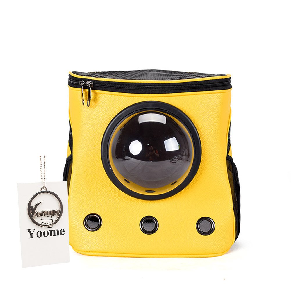 Bright yellow Yoome Large Pet Carrier Bucket Astronaut Cat Dog Puppy Carrier Travel Bag Space Capsule Backpack Breathable