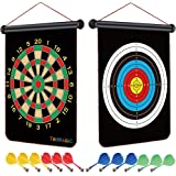 TriMagic Magnetic Dart Board - Best Birthday Toy Gift for 6 7 8 9 10 12 Year Old Boys, Cool Outdoor Games for Kids 8-12…