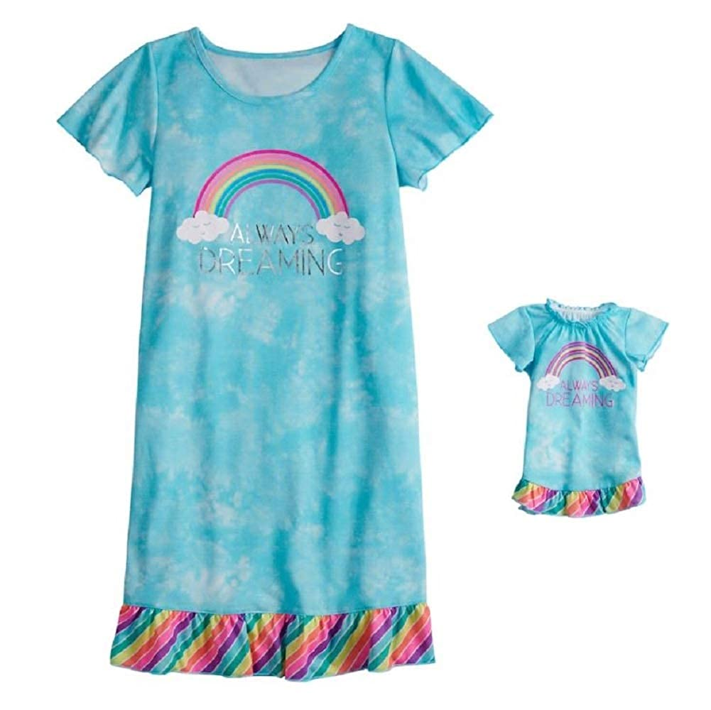 Short Sleeve Dorm Nightgown /& Doll Nightgown Set