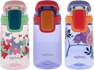 Contigo Water Bottles, 14oz Kids, Ballet/Wink/Love