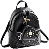 Cute Small Backpack Mini Purse Casual Daypacks Leather for Women