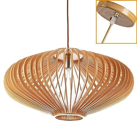 Suspensión Luminaire madera I Natural lustre madera lámpara ...