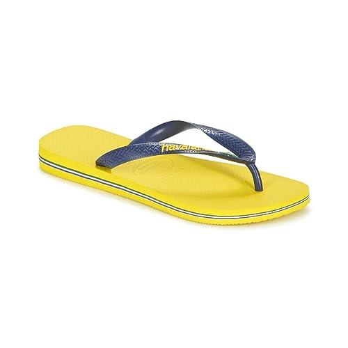 7fb2207cf586ef Havaianas Brasil Logo Flip Flop Man Yellow 4344  Amazon.co.uk  Shoes   Bags