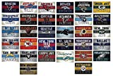 NFL Banner Stickers Set of 50 Football Stickers (All 32 Team Logos and more) 4.25'' X 2.75'' Size