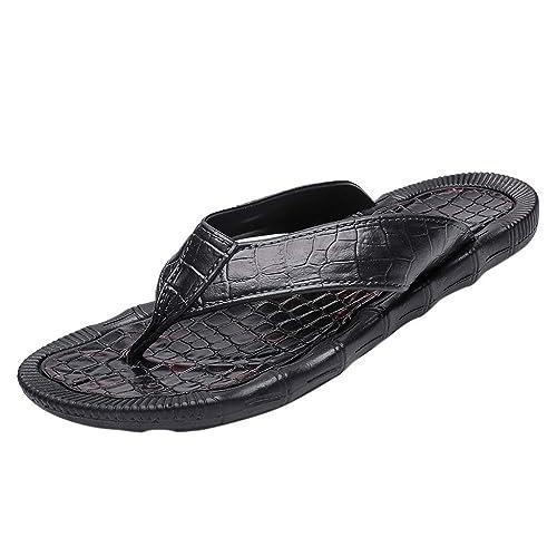 d0eea29198e3 Sunyastor Beach Shoes 2019 Fashion Casual Men s Personality Durable Flip- Flops Non-Slip Lightweight